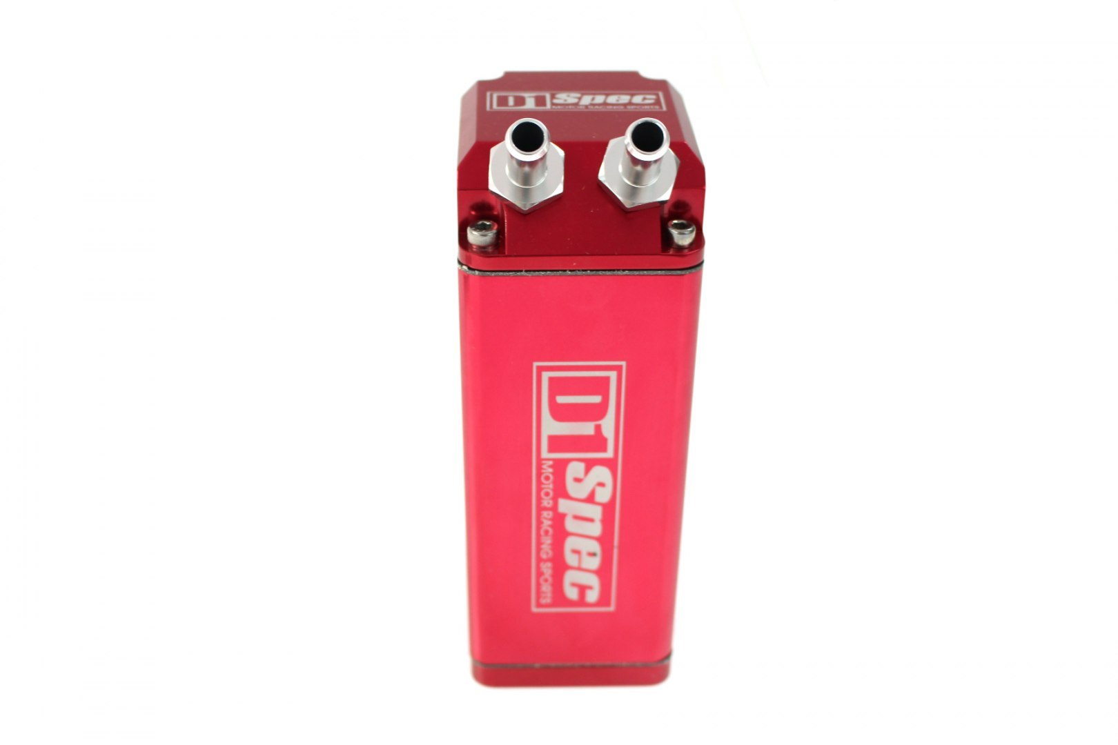 Oil catch tank 0.9L 9mm D1Spec Red Square - GRUBYGARAGE - Sklep Tuningowy